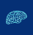 the original brain of points and lines vector image vector image