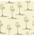Tree planting vector image