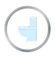 WC toilet icon of for web and vector image