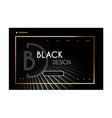 web page design landing page in black and gold vector image vector image