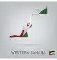 western sahara vector image vector image
