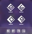 Abstract geometric logo icon set vector image