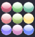 round glass buttons vector image