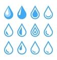 Water Drop Emblem Logo Template Icon Set vector image