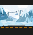 seamless cartoon landscape background with vector image