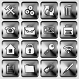 Set of Metallic Square Buttons vector image