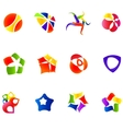 12 colorful symbols set 16 vector image vector image