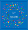 a square happy birthday banner on a blue vector image