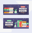 a stack books with an apple and mini globe in vector image vector image