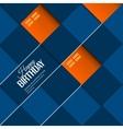 Abstract birthday card orange balloons on blue vector image