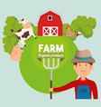 agriculture and farming icon vector image vector image