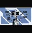 ai smart bot robot vector image