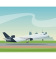 airplane airport transport passenger business vector image