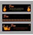 Banners set with bright fire flame vector image vector image