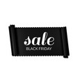 black friday sale horizontal banner black ribbon vector image