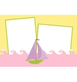 Blank template for greetings card vector image vector image