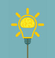 brain in lamp for your vector image