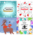 colorful seamless pattern with red santa hats on vector image vector image