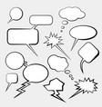 comic cloud conversations vector image vector image