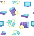Computer pattern cartoon style vector image vector image
