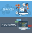 Concept for services and programming vector image