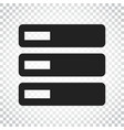 database server icon storage simple business vector image