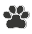 dog footprint isolated icon vector image vector image