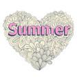 doodles heart shape pastel color doodle heart vector image