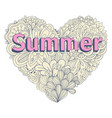 doodles heart shape pastel color doodle heart vector image vector image