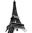 eiffel tower icon isolated on white background vector image vector image