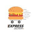express delivery concept burger or fast food vector image vector image