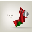 Flag of Oman as a country vector image vector image