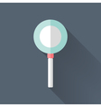 Flat loupe icon over blue vector image