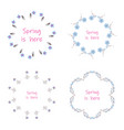 floral setcolorful purple floral collection with vector image vector image