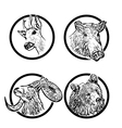 forest animals rings 1 vector image vector image