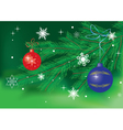 green card with christmas decor vector image vector image