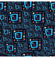 Hand drawn colorful abstract seamless patterns vector image vector image