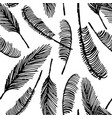 hand drawn sketch of palm seamless pattern vector image vector image