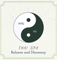 Hand drawn Thai massage and spa design elements vector image vector image