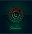 happy muharram background with islamic pattern vector image