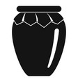 honey jar icon simple style vector image