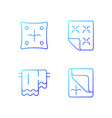 household cloth gradient linear icons set vector image vector image