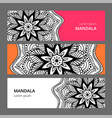 indian floral paisley medallion banners ethnic vector image