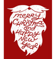 Isolated Santas Beard With Greeting Text vector image