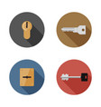 keys and keyholes icons vector image