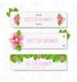 Leaves banner vector image vector image