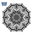 mandala coloring page vintage decorative vector image