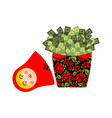 matryoshka and money cash and russian national vector image vector image