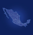 mexico map dot links vector image