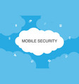 mobile security infographic cloud design template vector image vector image